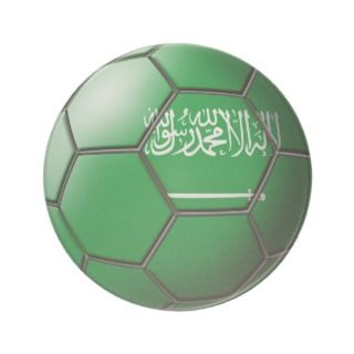 Saudi Arabia Soccer Ball Coasters