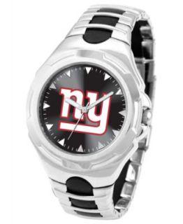 Game Time Watch, Mens New York Giants Black Polyurethane Strap 47mm