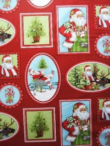 Holly Jolly Christmas Santa Mary Lake Thompson Robert Kaufman Fabric