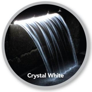 Atlantic Water Gardens Colorfalls 36 w Crystal White LED Lights Color