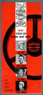 NASCAR Stock Car Racing Handbook 1961 Richard Petty Rex White More FN