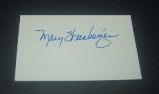 INVENTORY CLEAN OUT ACTRESS MARY STEENBURGEN SIGNED INDEX CARD MELVIN