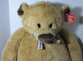 Gund Jumbo FAO Pookey FAO Schwartz Plush Teddy Bear