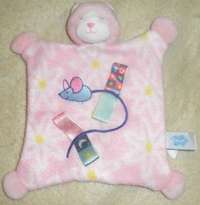 Mary Meyer Taggies Kitty Cat Pink Security Blanket Plush