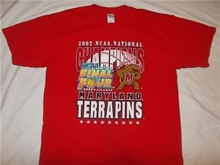 Maryland Terrapins 2002 National Champions RARE Vintage Shirt XL