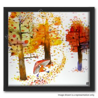 Masha DYans Watercolor Fall 11x12 Print Framed