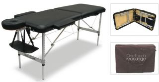 OneTouch Light Weight Portable Massage Table Black 6L