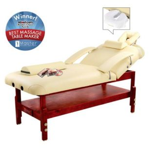 Master Massage 31 Spa Stationary LX Massage Table in Cream 67235