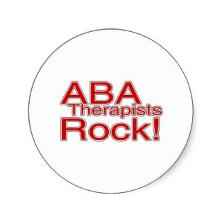 ABA Therapists Rock (Red) Round Sticker