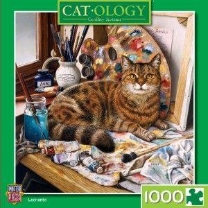 Masterpieces Catology Leonardo Cat Jigsaw Puzzle 1000 PC