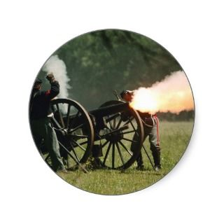 Civil War Cannon Stickers