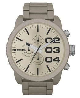Diesel Watch, Chronograph Sand Color Coated Stainless Steel Bracelet