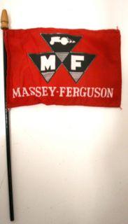 Vintage Massey Ferguson Tractor Desk Flag Ad