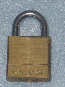 Vintage Master Lock Co Brass Lion Key Padlock Set 120