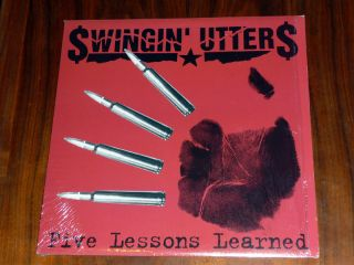 Swingin Utters Five Lessons Learned LP 1998 on Fat Wreck Chords