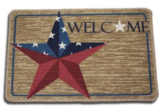 Barn Star Throw Rug Welcome Mat Kitchen Laundry Country