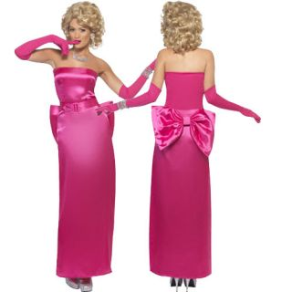 Lady in Pink Costume Hollywood Starlet Material Girl Dress s XL