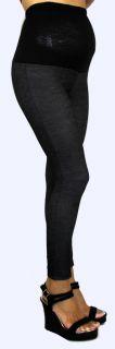 Maternity Leggings Black Gray New Womens Pants with Elastic Band s M L