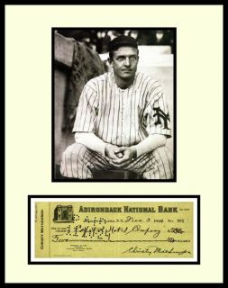 Christy Mathewson Signed Check Display Ready 2 Frame