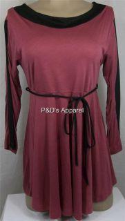 New Womens Maternity Clothing Coqueta s M L XL Purple Shirt Top