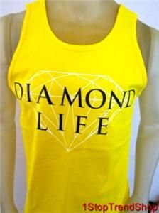 Diamond Supply Co Diamond Life Tank Top Mens Skate Yellow s M L XL $