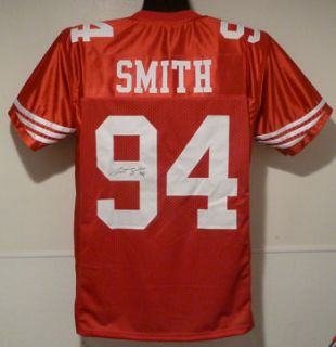 Justin Smith Autographed Signed San Francisco 49ers Red Mesh Size XL