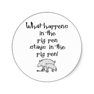 Pig Pen Sticker