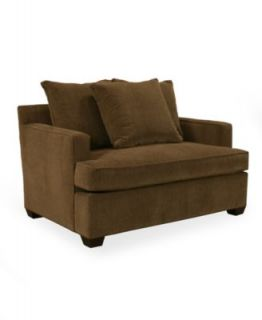 Text Fabric Sofa Bed, Twin Sleeper 54W x 38D x 38H