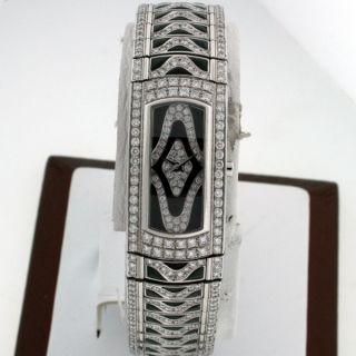 Mauboussin 18K White Gold All Diamond and Obsidian New $153 060 00