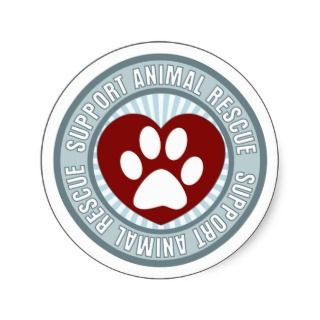 Support Animal Rescue Stickers