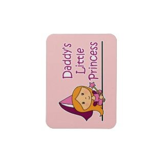 Daddys Little Princess Rectangular Magnets