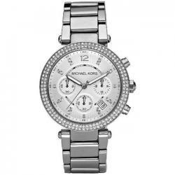 Michael Kors Womens MK5353 Parker Silver Watch