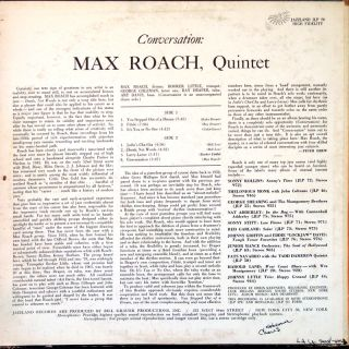 Max Roach Conversation LP Jazzland JLP79 Original US 1962 Jazz Drum