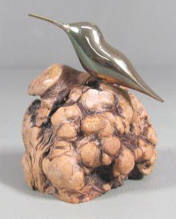 Todd Weber Bronze Hummingbird Sculpture Nambe Artist