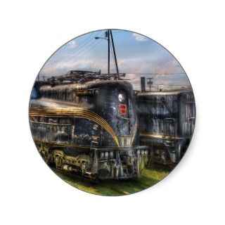 4919   Pennsylvania Railroad electric locomotive Round Stickers