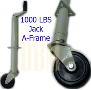 1000 lbs Trailer Boat RV Jack A Frame Tongue with Wheel Free Shipping