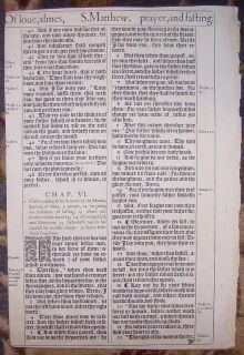1ST EDITION KING JAMES HE BIBLE LEAF/RARE/BEATITUDES/THE LORDS PRAYER