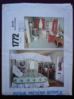 1970s Vogue Vintage Doll House Beautifuls Sewing Pattern 1772 Factory