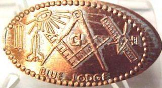 Elongated Penny Masonic Symbols Blue Lodge 7472C