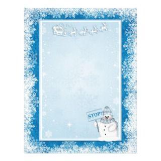 Reindeer Snowman Christmas Letter Santa Letterhead