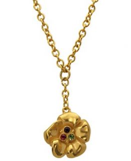 Tahari Necklace, 14k Gold Plated Flower Pendant Necklace