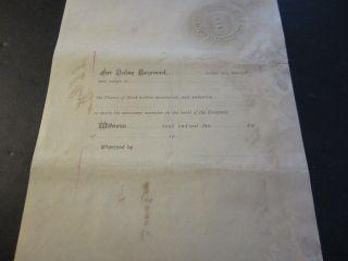 Old 1901 Little Rock Maumelle & Western Railroad   Stock Certificate