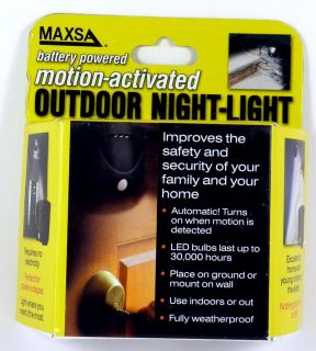 Maxsa Innovations 40342 Motion Activated Outdoor LED Night Light