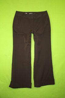 Apt. 9 Maxwell sz 8P Petite Womens Brown Dress Pants Slacks Stretch