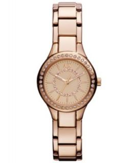 Armani Exchange Watch, Womens Rose Gold Tone Stainless Steel
