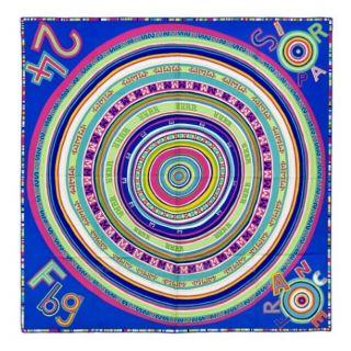 Tohu Bohu Claudia Stuhlhofe Mayr 2004 Bright Blue Silk Scarf