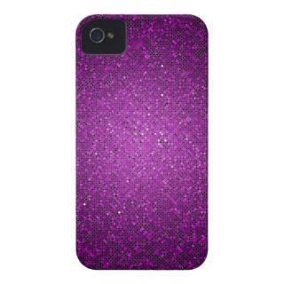 Purple Glitter Sequin iPhone 4 Mate Tough™ Case iPhone 4 Cover