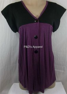Womens Maternity Clothing Dating Purple s M L XL Shirt Top Blouse