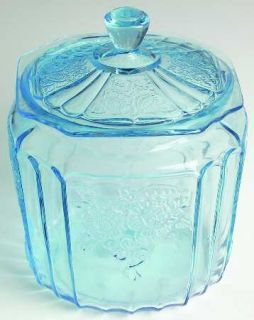 Anchor Hocking Mayfair Blue Cookie Jar with Lid 1676898