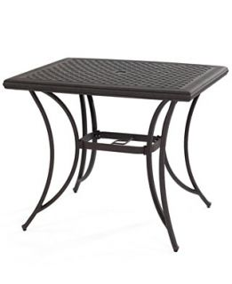 Grove Hill Aluminum Patio Furniture, 38 x 32 Outdoor Dining Table